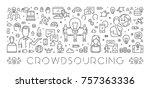 vector line web banner for... | Shutterstock .eps vector #757363336