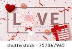 festive web banner for happy... | Shutterstock .eps vector #757367965