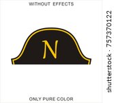 hat of the dictator napoleon | Shutterstock .eps vector #757370122