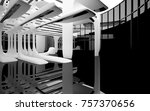 abstract dynamic interior with... | Shutterstock . vector #757370656