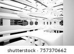 abstract dynamic interior with... | Shutterstock . vector #757370662