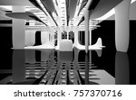 abstract dynamic interior with... | Shutterstock . vector #757370716
