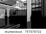 abstract dynamic interior with... | Shutterstock . vector #757370722