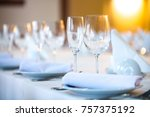 beautifully served table in a... | Shutterstock . vector #757375192