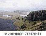black   volcanic sand   beaches ... | Shutterstock . vector #757375456
