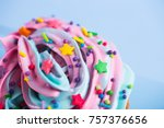closeup cupcake creamy... | Shutterstock . vector #757376656