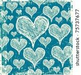 Scratch Hearts Pattern