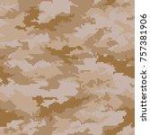 digital camouflage pattern ... | Shutterstock .eps vector #757381906