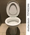 toilet bowl or also known as wc | Shutterstock . vector #757401346