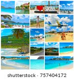collage from views of the... | Shutterstock . vector #757404172