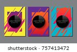 abstract geometric   layout... | Shutterstock .eps vector #757413472