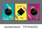 abstract geometric   layout... | Shutterstock .eps vector #757416352