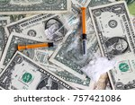 drug addictional   narcotic | Shutterstock . vector #757421086