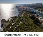aerial view of bonifacio old... | Shutterstock . vector #757433542