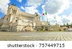 national monument the... | Shutterstock . vector #757449715