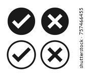 check box list icons set  black ... | Shutterstock .eps vector #757466455