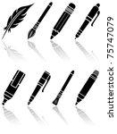 set of black paint icons ... | Shutterstock .eps vector #75747079