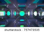 abstract dynamic interior with... | Shutterstock . vector #757473535