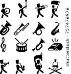 marching band icons | Shutterstock .eps vector #757476976