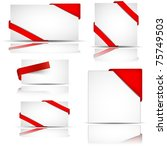 red greeting or invitation... | Shutterstock .eps vector #75749503