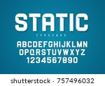 static vector decorative bold... | Shutterstock .eps vector #757496032