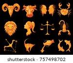 horoscope horoscope on black