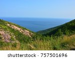 carbot trail in cape breton... | Shutterstock . vector #757501696