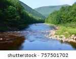 carbot trail in cape breton... | Shutterstock . vector #757501702