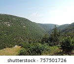carbot trail in cape breton... | Shutterstock . vector #757501726
