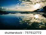 sky reflection on sea | Shutterstock . vector #757512772
