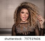 beautiful woman portrait... | Shutterstock . vector #757519606