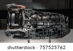 automatic transmission gearbox. ... | Shutterstock . vector #757525762