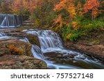 The beautiful colors of fall at DeSoto Falls.