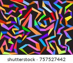 multicolored lines background  | Shutterstock .eps vector #757527442