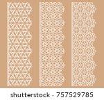 vector set of line borders with ...   Shutterstock .eps vector #757529785