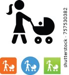 mother pushing a stroller icon | Shutterstock .eps vector #757530382