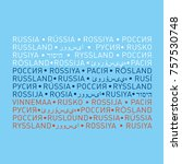 the russian flag is made up of... | Shutterstock .eps vector #757530748