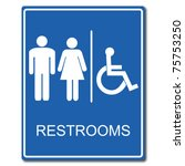 restrooms sign | Shutterstock .eps vector #75753250