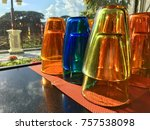 color water glass cup | Shutterstock . vector #757538098