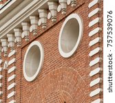 architectural elements of white ... | Shutterstock . vector #757539076