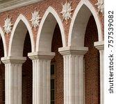 beautiful architectural... | Shutterstock . vector #757539082