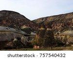 volcanic rocks   turkey | Shutterstock . vector #757540432