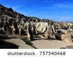 volcanic rocks   turkey | Shutterstock . vector #757540468