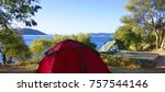 camping with bycle at kas ... | Shutterstock . vector #757544146