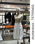 clothes mannequin with white... | Shutterstock . vector #757550602