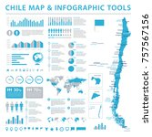 chilemap   detailed info... | Shutterstock .eps vector #757567156
