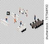 world tech congress isometric... | Shutterstock .eps vector #757568932