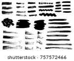 grunge vector brush strokes.... | Shutterstock .eps vector #757572466