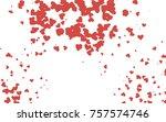 light red vector hearts... | Shutterstock .eps vector #757574746
