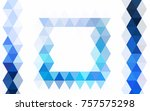 light gray vector low poly... | Shutterstock .eps vector #757575298